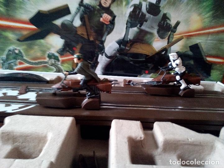 Scalextric: -CAJA SCALEXTRIC STAR WARS-BATTLE OF ENDOR-MUY RARO - Foto 17 - 170158612