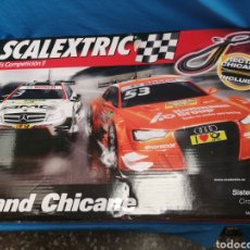 Scalextric: SCALEXTRIC GRAND CHICANE , COMPLETO , MERCEDES C-COUPE AMG Y AUDI A5 DTM. Lote 171356020