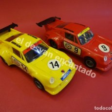 Scalextric: PORSCHE CARRERA TURBO. LOTE DOS COCHES. SCALEXTRIC UK. Lote 172295599