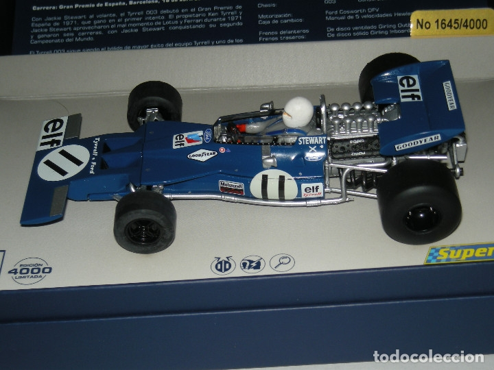 Scalextric: F1 TYRRELL 003 JACKY STEWART 1971 SUPERSLOT LEGENDS/SCALEXTRIC NUEVO EN CAJA - Foto 2 - 257932995