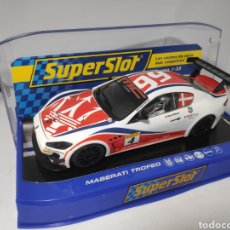 Scalextric: SUPERSLOT MASERATI TROFEO WORLD SERIES 2013 N°4 SUPERCLUB 2014. Lote 174530398