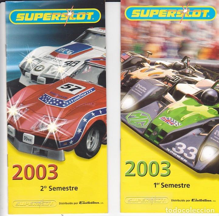 LOTE DE 4 CATALOGOS SUPERSLOT 2003 (2) 2007 2008 (Juguetes - Slot Cars - Scalextric SCX (UK))