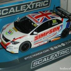 Scalextric: HONDA CIVIC BTCC SUPERSLOT/SCALEXTRIC UK NUEVO EN CAJA. Lote 177628923