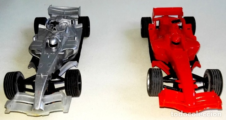 LOTE DE DOS COCHES FÓRMULA 1 DE SCALEXTRIC COMPACT - ROJO Y PLATA (Juguetes - Slot Cars - Scalextric SCX (UK))