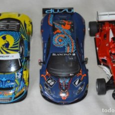 Scalextric: LOTE 3 COCHES VARIADOS DE SLOT - SCALEXTRIC UK - HORNBY / USADOS - HAZME OFERTA ¡MIRA!. Lote 182156481