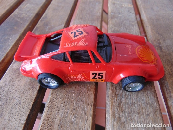 COCHE DE PISTA PORSCHE CARRERA RS SCX ROJO DE SCALEXTRIC INCOMPLETO (Juguetes - Slot Cars - Scalextric SCX (UK))