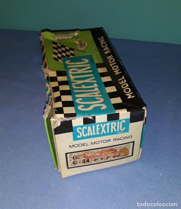 Scalextric: ANTIGUO COCHE ORIGINAL DE SCALEXTRIC AUSTIN HEALEY 3000 CON CAJA - Foto 7 - 184760673