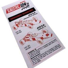 Scalextric: SCALEXTRIC SUPER 124 FERRARI & LOTUS INSTRUCCIONES COCHES. Lote 188767676