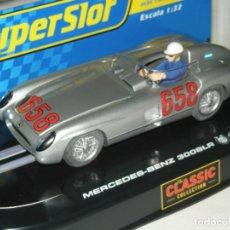 Scalextric: MERCEDES 300 SLR FANGIO SUPERSLOT/SCALEXTRIC NUEVO EN CAJA. Lote 189464557