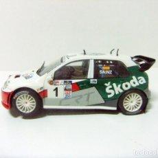 Scalextric: SKODA FABIA RALLY CAR 1:32 SCX CARLOS SAINZ LUIS MOYA - XVII RALLYE SHALYMAR 2007 - COCHE SLOT RACE. Lote 189773978