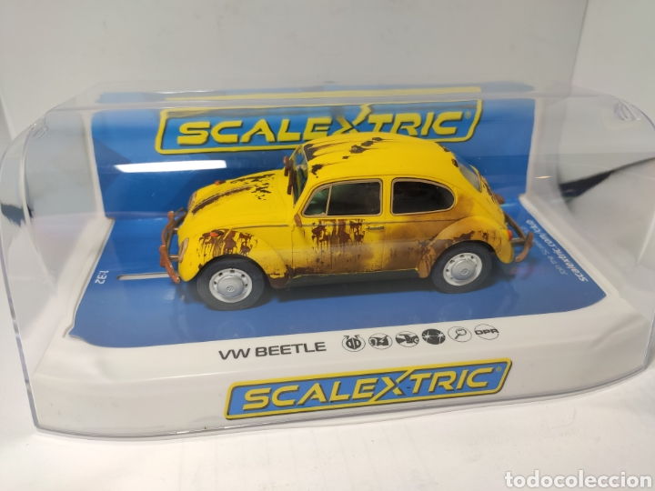 SCALEXTRIC UK VW BEETLE YELLOW SUPERSLOT REF. C4045 (Juguetes - Slot Cars - Scalextric SCX (UK))