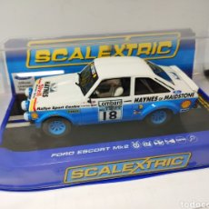 Scalextric: SCALEXTRIC UK FORD ESCORT MK2 1979 LOMBARD TROPHY SUPERSLOT REF. C3636. Lote 190484781