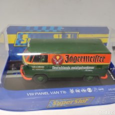 Scalextric: SUPERSLOT VW PANEL VAN T1B GREEN & ORANGE JAGERMEISTER REF. H3938. Lote 192780608