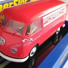 Scalextric: SCALEXTRIC SUPERSLOT INGLÉS UK FURGONETA VOLKSWAGEN VW PANELVAN T1 PORSCHE LUCES . EN URNA.NUEVO. Lote 194199755
