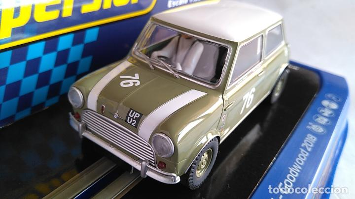 SCALEXTRIC SUPERSLOT INGLÉS UK MORRIS MINI COOPER GOODWOOD 2018 LUCES . EN URNA.NUEVO (Juguetes - Slot Cars - Scalextric SCX (UK))
