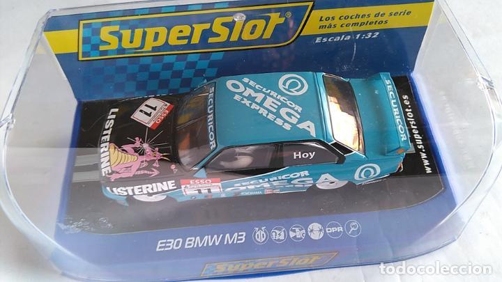 Scalextric: SUPERSLOT SCALEXTRIC UK INGLÉS, BMW E30 M3 CON LUCES. ,NUEVO EN URNA - Foto 4 - 194200117
