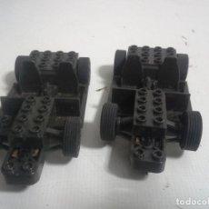 Scalextric: 2 COCHES SCX SCALEXTRIC SIN CARROCERIA DE LEGO. Lote 195465883