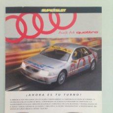 Scalextric: SLOT, LOTE 3 FICHAS SUPERSLOT,AUDI A4 QUATTRO, PORSCHE 911 GT1, RENAULT MEGANE. Lote 198831686