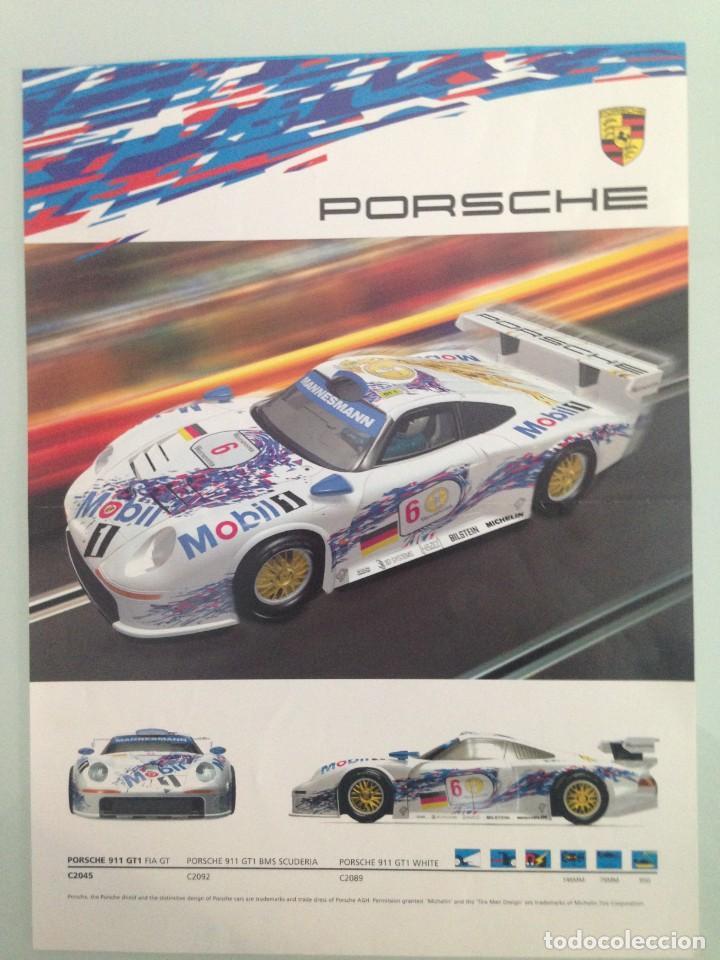 Scalextric: SLOT, LOTE 3 FICHAS SUPERSLOT,AUDI A4 QUATTRO, PORSCHE 911 GT1, RENAULT MEGANE - Foto 2 - 198831686