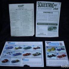 Scalextric: SCALEXTRIC AÑOS 70 FOLLETIN CATALOGO Y SACALEXTRIC CLUB AÑOS 60. Lote 204244338