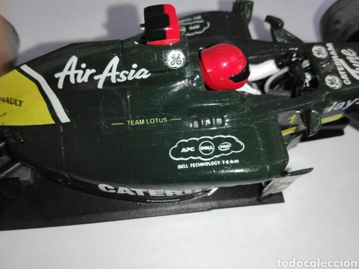 Scalextric: -CATERHAM TEAM AIR ASIA 2012 - PINTADO A MANO CON CALCAS - Foto 19 - 204766486