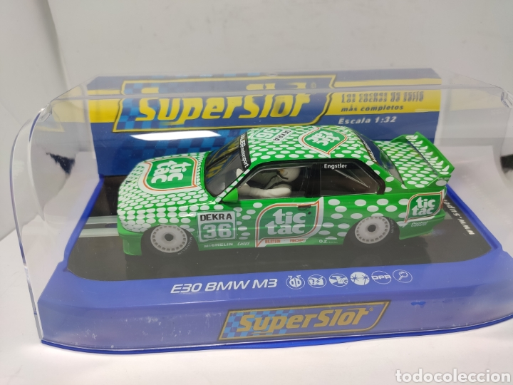 SUPERSLOT BMW E30 M3 DTM RACE SERIES TIC TAC REF. H3865 (Juguetes - Slot Cars - Scalextric SCX (UK))