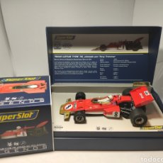 Scalextric: SUPERSLOT LEGENDS LOTUS 72 TONY TRIMMER REF. H3657A. Lote 206816993