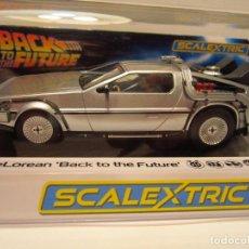 Scalextric: DELOREAN BACK TO THE FUTURE SCALEXTRIC UK NUEVO. Lote 209712542