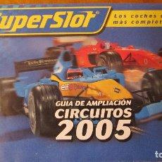 Scalextric: SCALEXTRIC UK. SUPERSLOT: GUIA AMPLIACION CIRCUTOS 2005. AMPLISIMO DESPLEGABLE POSTER. Lote 211568284