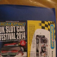 Scalextric: SCALEXTRIC UK: CONCEPTO SUPER TECH Y UK SLOT FESTIVAL 2014. Lote 213135337