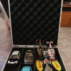 Scalextric: SCALEXTRIC MALETA Y COCHES. Lote 213403077