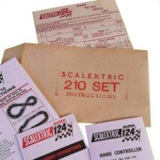 Scalextric: SCALEXTRIC SUPER 124 SET 210 INSTRUCCIONES CIRCUITO ( LEER DESCRIPCIÓN). Lote 214493282