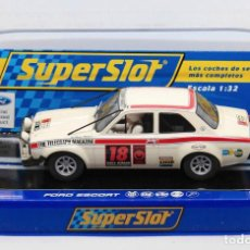 Scalextric: FORD ESCORT MKI 1º LONDON-MÉXICO WORLD CUP RALLY (SCALEXTRIC SUPERSLOT). Lote 214493956