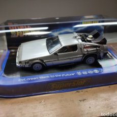 Scalextric: SUPERSLOT DELOREAN BACK TO THE FUTURE SCALEXTRIC UK. Lote 218904316