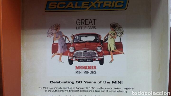 Scalextric: Morris Mini Minor 50 aniversario Scalextric C-2980-A - Foto 2 - 224060991