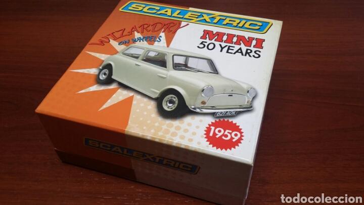 MORRIS MINI MINOR 50 ANIVERSARIO SCALEXTRIC C-2980-A (Juguetes - Slot Cars - Scalextric SCX (UK))