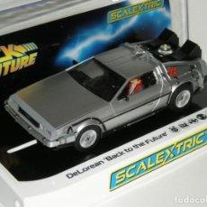 Scalextric: DELOREAN REGRESO AL FUTURO ( BACK TO THE FUTURE) SUPERSLOT/SCALEXTRIC NUEVO EN CAJA. Lote 224927488