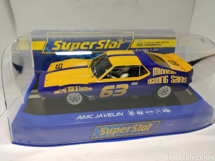 SUPERSLOT AMC JAVELIN SCCA TRANS AM 1972 N°63 REF. H3876 (Juguetes - Slot Cars - Scalextric SCX (UK))