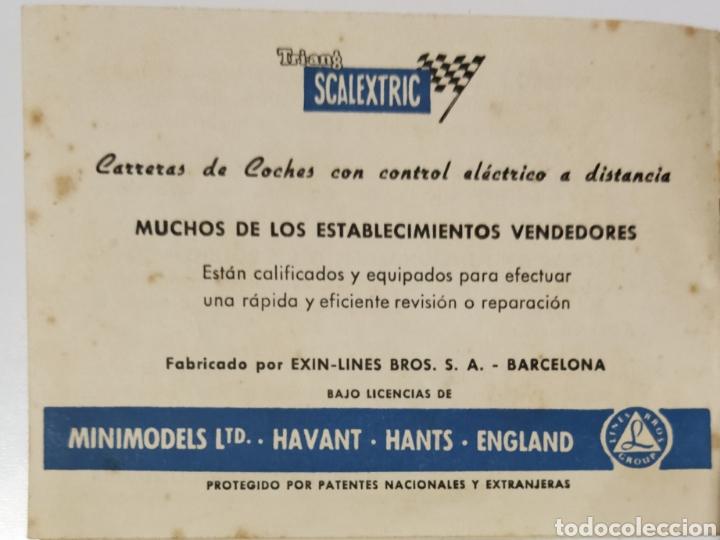 Scalextric: Reglamento de SCALEXTRIC años 60 y Lista de los precios de la época. - Foto 6 - 234997015