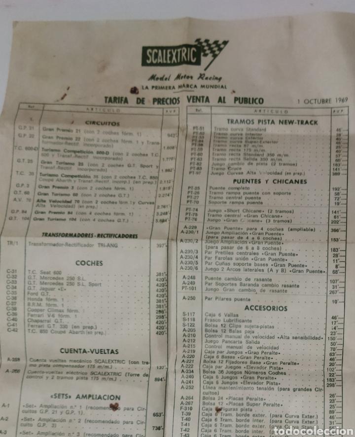 Scalextric: Reglamento de SCALEXTRIC años 60 y Lista de los precios de la época. - Foto 7 - 234997015