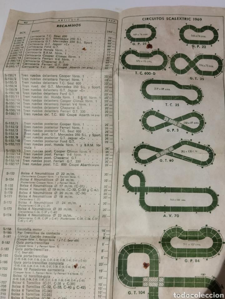 Scalextric: Reglamento de SCALEXTRIC años 60 y Lista de los precios de la época. - Foto 8 - 234997015