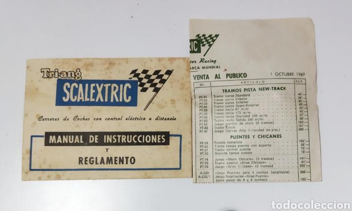 REGLAMENTO DE SCALEXTRIC AÑOS 60 Y LISTA DE LOS PRECIOS DE LA ÉPOCA. (Juguetes - Slot Cars - Scalextric SCX (UK))