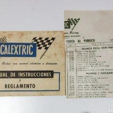 Scalextric: REGLAMENTO DE SCALEXTRIC AÑOS 60 Y LISTA DE LOS PRECIOS DE LA ÉPOCA. Lote 234997015