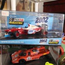 Scalextric: LOTE DE 2 COCHES SCALEXTRIC PORCHE 917 EDICION VINTAGE REF 6017 Y F1 2002 EDITION. Lote 237401160