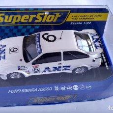 Scalextric: SUPERSLOT SCALEXTRIC INGLÉS UK FORD SIERRA RS500, NUEVO EN URNA. Lote 247784815