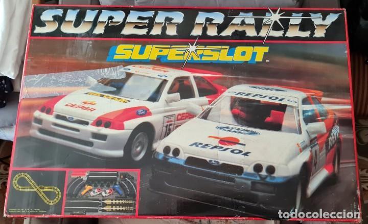 CAJA SUPERSLOT SUPERRALLY Y MATERIAL ADICIONAL (Juguetes - Slot Cars - Scalextric SCX (UK))