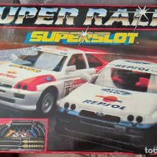Scalextric: CAJA SUPERSLOT SUPERRALLY Y MATERIAL ADICIONAL. Lote 261615580