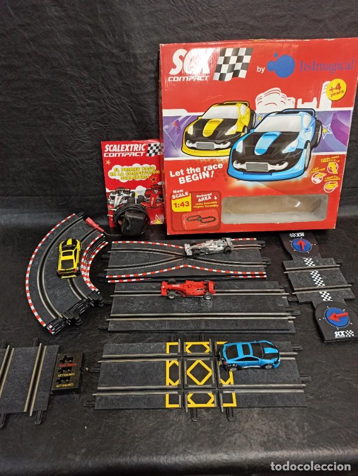 SCALEXTRIC CON 4 COCHES. JUG. (Juguetes - Slot Cars - Scalextric SCX (UK))