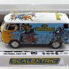 Scalextric: SCALEXTRIC CLUB (HORNBY) DC COMICS VOLKSWAGEN PANEL VAN T1B SLOT 1.32. Lote 270120243
