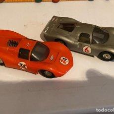 Scalextric: SLOT CARS DOS CREO QUE CARROS DE CARRERAS FABRICADOS POR ELDON USA (NO SCALEXTRIC). Lote 285697808